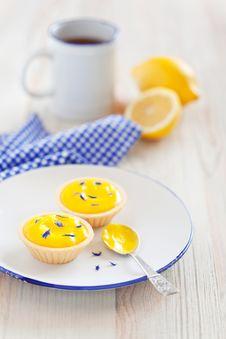 Lemon Curd Tartlets Royalty Free Stock Images