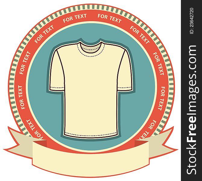 Clothes label set on white.