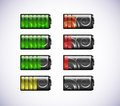 Free Vector Batteries Icons. Stock Images - 23653134