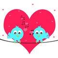 Free Love Birds Royalty Free Stock Photo - 23656285