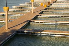 Free Docks On A Bay Royalty Free Stock Photography - 23650387