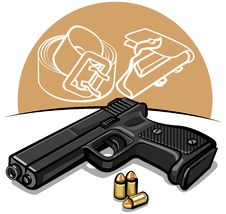 Free Automatic Handgun Royalty Free Stock Image - 23651936