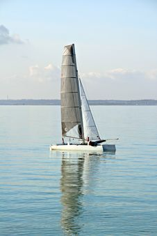 Free Catamaran Off Mainland Stock Image - 23654911