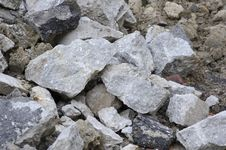 Free Stone & Brick Rubble Pile Stock Image - 23658951