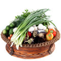 Free Basket Of Vegetables Royalty Free Stock Photos - 23661328