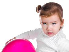 Free Portrait Of Cute Little Girl  With Balloon Stock Image - 23660281