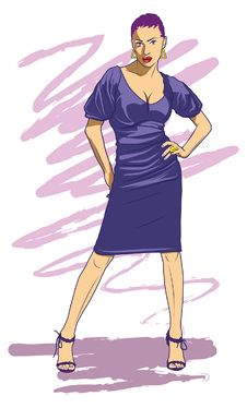 Free Purple Lady Stock Images - 23660804
