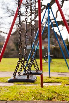 Swings In Playground Royalty Free Stock Image