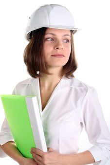 Free Girl In A Hardhat Stock Image - 23661271