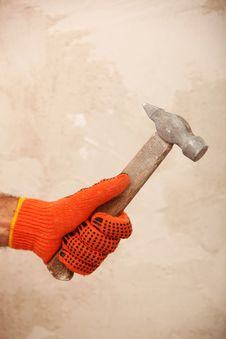 Free Hand With Hammer Royalty Free Stock Images - 23661589