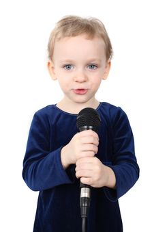 Free Little Girl Is Singing Royalty Free Stock Image - 23661726
