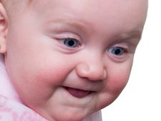 Free Baby Blue Eyes In Profile Royalty Free Stock Photography - 23663217