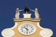 Clock Tower At Town Hall. &x28;Bardolino, Italy&x29; Royalty Free Stock Images
