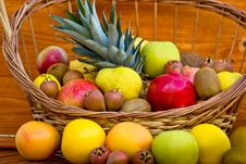 European Fruits And Tropical Fruits Royalty Free Stock Photos