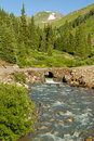 Free Snow Capped Mountains And A Stream. Stock Photo - 23670390