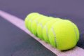 Free Tennis Balls Closeup On Hard Court Tennis Turf Stock Photo - 23670750