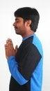 Free Photo Of Youth Praying With White Background Stock Image - 23679341