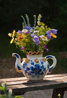 Free Wild Flowers In A Teapot Royalty Free Stock Photography - 23670377