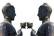 2 Lord Buddha Statue Royalty Free Stock Images