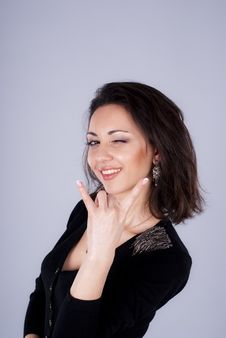 Gesture Of Beautiful Girl Stock Image