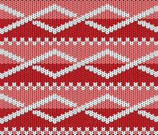 Free Knitted Texture With Ornament Royalty Free Stock Images - 23672889