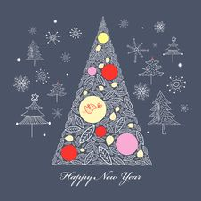 Free Christmas Tree Royalty Free Stock Photography - 23673747