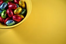 Free Easter Candy In A Bowl Royalty Free Stock Images - 23674049