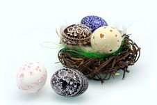 Free Easter Eggs In The Nest Stock Photo - 23674640