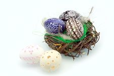 Free Easter Eggs In The Nest Stock Photo - 23674650