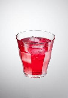 Red Cranderry Drink Stock Photography