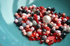 Red And Pink Beads Stock Images