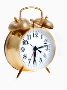 Free Golden Bell Alarm Clock Royalty Free Stock Image - 23676416