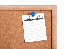Free Mics Notes On Corkboard Royalty Free Stock Image - 23676456