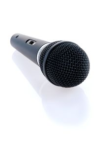 Singer Stage Microphone Stock Photography