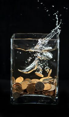 Free Money Water Royalty Free Stock Images - 23676689