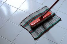 Free Cleaning Clooth And Scrubbing Brush Stock Photo - 23676970