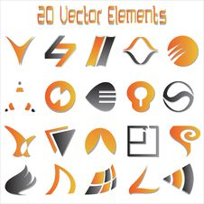 Free 20 Vector Elements Stock Images - 23677204