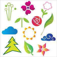 Free Nature Vector Elements Stock Photos - 23677223