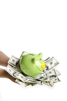 Free Saving Your Money In Piggy Bank Stock Photos - 23679143