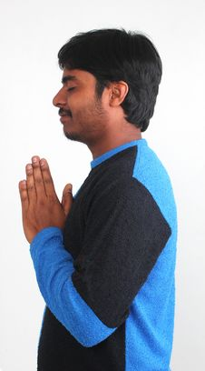 Free Photo Of Youth Praying With White Background Stock Image - 23679341