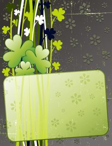 St Patrick S Day Grunge Card Stock Photography