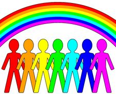 Free Rainbow People - Vector Concept Royalty Free Stock Photo - 23683625