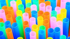 Flexible Straws Royalty Free Stock Images