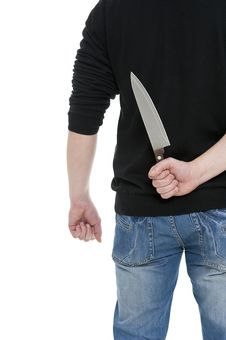 Free Man With The Knife Stock Photo - 23685010