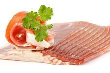 Free Thin Slices Of Jamon Stock Image - 23686701
