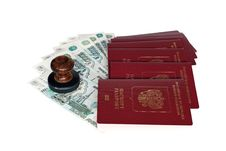 Free Passports Of Russian Federation Royalty Free Stock Photography - 23687497