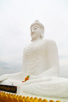 Closeup View Of A Historic Buddha Statue Royalty Free Stock Images