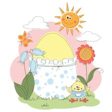 Free Easter Greeting Card Stock Photo - 23689970