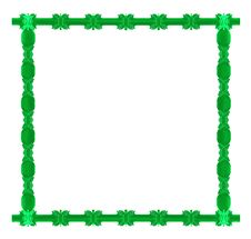 Green Square Frame Stock Image