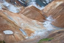 Free Colorful Mountains In Iceland, All Deserted Royalty Free Stock Photography - 23691077